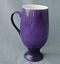 espresso coffee mug 2 oz cup slender pedestal deep purple on white base