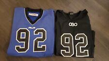 Lot of 2 OBO and TK Field Hockey Goalie Jerseys - Royal Blue and Black - Medium