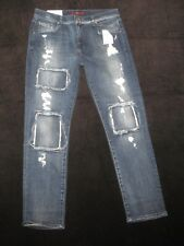 7 for All Mankind Relaxed SKINNY Girlfriend Jeans Distressed Sz 29