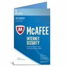 McAfee Internet Security 2017 3 Devices 1 Year - Product Key Card only