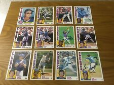 Topps Ryne Sandberg, Lee Smith Signed + 10 Other 1984 Chicago Cubs 12 Card Lot