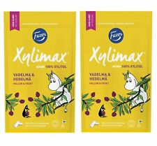 Moomin Fazer Xylimax 100%  Xylitol Chewing Gum Raspberry and Fruit 2 x 100 g