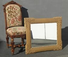 """Antique Vintage Ornate Gold Wall Mantle Mirror 30"""" x 34"""""""