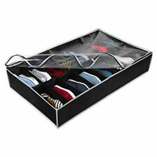 Under Bed Shoe Storage Organizer - Underbed Storage Solution Fits Most Shoes,