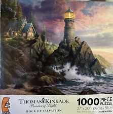 "Thomas Kinkade Painter of Light 1000 Piece Puzzle ""Rock of Salvation"""