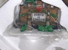 "Dept 56 Dicken's Village Hand Painted ""Tower of London"" Set Of 5 NIB( L181"