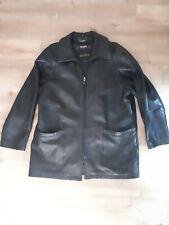 Vintage Danier Mens Black Leather Coat Size * Large *
