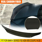 Carbon Fiber Rear Trunk Spoiler Wing For Bmw 4 Series F32 428i 435i Coupe 14-20