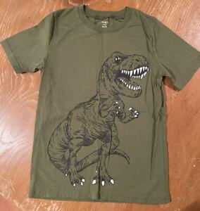 Carters Boys Dinosaur Olive Green T-shirt Size 10/12