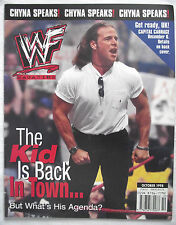 WWF  MAGAZINE OCTOBER 1998 / SHAWN MICHAELS / CHYNA / D LO BROWN POSTER