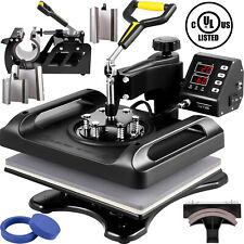 Vevor 8in1 Heat Press 12x15 T Shirtmugplatehat Transfer Sublimation Machine
