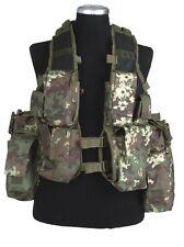 Einsatzweste Tactical 12 Taschen vegetato woodland
