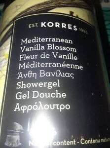 KORRES MEDITERRANEAN VANILLA BLOSSOM SHOWERGEL in MEGA 33.81oz. w/Pump Authentic