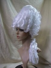 White Marie Antoinette Wig Duchess French Queen Historical First Lady Washington