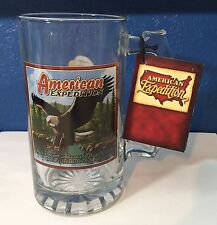 American Expedition The Bald Eagle Glass Beer Mug, Explore And Discover, Ideaman