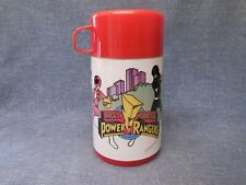 VINTAGE 1995 RED ALADDIN MIGHTY MORPHIN POWER RANGERS THERMOS FROM LUNCHBOX