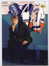 DARIUS KASPARAITIS New York Islanders 1992 UPPER DE  AUTOGRAPHED HOCKEY CARD JSA