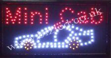 Flashing coloured mini cab led new  Shop signs
