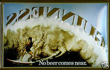 Guinness No Beer Comes Near (surfer) embossed steel sign  **FREE GIFT OFFER**
