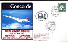 3496+ 1er LIAISON AERIENNE CONCORDE   MUNICH  LONDRES