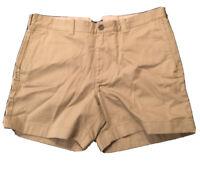 Mens Light Brown/Khaki J Crew Varick Short 34W 6-inch NEW W/ TAGS