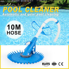 Suction Swimming Pool Cleaner Floor Climb Wall Automatic Vacuum 10M Hose Durable