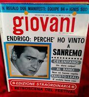 GIOVANI 7 1968 SANREMO CELENTANO ENDRIGO SANNIA MORANDI AL BANO COWSILLS LEALI