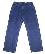 Carhartt Mens Jeans Blue Size 46x30 Big & Tall Work Relaxed Carpenter $50- 019