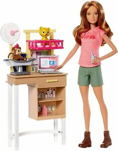 Barbie Doll Zoo Doctor Play Set with Two Patients! DVG11 NEW FREE SHIPPING