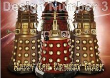 Doctor Who Dalek PERSONALISED Birthday Card ANY NAME ANY MESSAGE SAME DAY POST