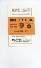 Hull City Third Division Home Teams F-K Football Programmes