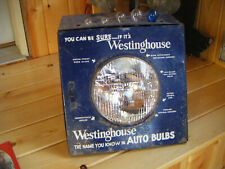 Vintage Westinghouse Auto Light Bulbs Display Sign Gasoline Station Can Oil Can