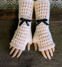 Fingerless Lace Burlesque Gloves, Winter Fashion Gloves