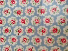 CATH KIDSTON  PROVENCE ROSE BLUE ORIGINAL OILCLOTH REMNANT 42 CM X 48 CM NEW