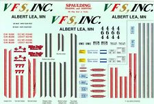 TRUCK DECAL - MIKE DAILY SET  V.F.S. INC MATCHING FOR TRUCK, TRAILER AND PICK-UP