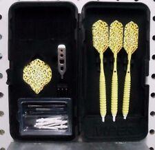 Elkadart Darts 18 gm Neon Yellow Cheetah Soft Tip Dart Set W/25 Extra Tips