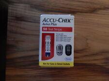 50 Accu Chek Aviva Plus diabetic glucose test strips sealed 8/2018 Sealed