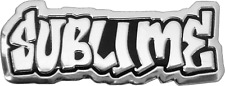 11402 Sublime Ska Music Band Shiny Silver Chrome METAL EMBLEM HEAVY DUTY Sticker
