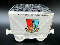 Antique Crested China, Railway Coal Wagon model Southsea Willow Art China.