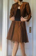 Women's Vintage Polka Dot Blazer And Skirt Set