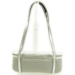 miumiu Shoulder bag Grey Silver Woman Authentic Used Y5211