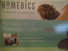 NEW HoMedics VC-110A Portable Back Massage Cushion with Heat for Home & Auto Car