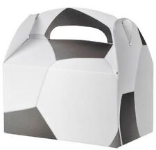 12 SOCCER  PARTY TREAT BOXES FAVORS GOODY BAG  PRIZE GIFT BASKET CARNIVAL