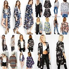 Womens Boho Loose Style Cardigan Retro Kimono Coats Cape Blazer Jacket Tops Lot