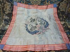 COMMEMRATIVE Handkerchief The Maine Well Remembered Manila Captured Aug 13 1898