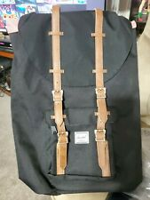 HERSCHEL Supply Co. Little America Laptop BackPack - Black / Tan NWT