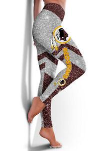 Washington Redskins Women Leggings Sporty Fitness Leggings Pants Yoga Bottom