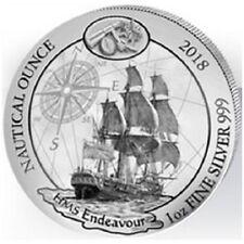 RWANDA 50 RWF Argent 999/1000 1 Once 2018 Nautique HMS Endeavour