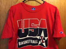 b37dde57c49e6 M S RARE VINTAGE 90 S CHAMPION USA BASKETBALL DREAM TEAM THICK T-SHIRT  XLARGE XL