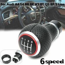 6 Speed Manual Car Gear Shift Knob For Audi A4 S4 B8 8k A5 Q5 8r S Line 07-15
